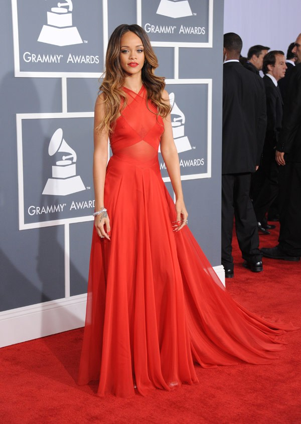 Rihanna in Alaia, Grammy Awards, 2013