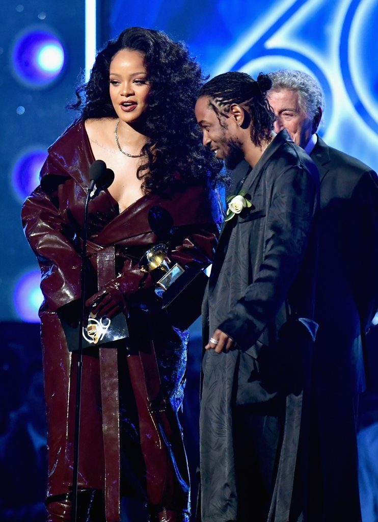 Rihanna in Alexandre Vauthier, Grammy Awards, 2018