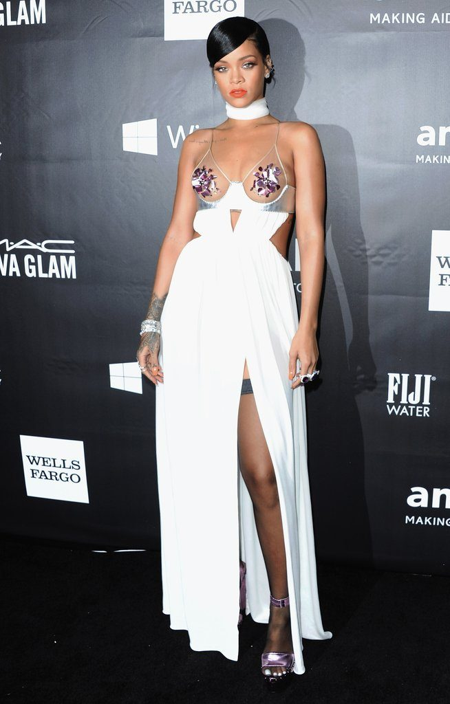 Rihanna in Tom Ford, amfAR Gala, 2014
