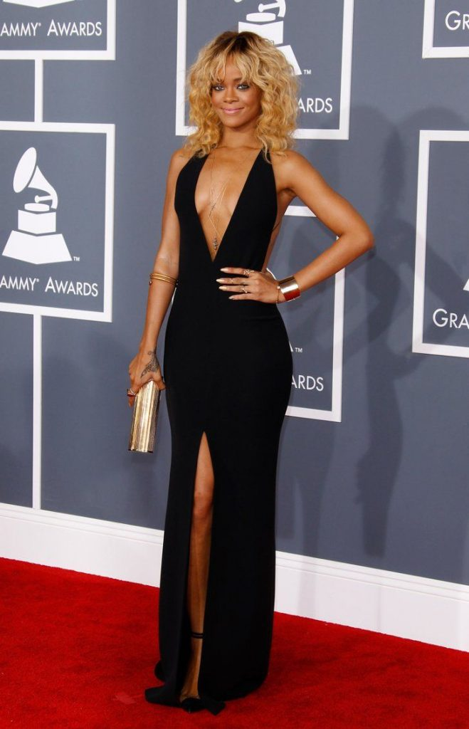 Rihanna in Armani, Grammy Awards, 2012