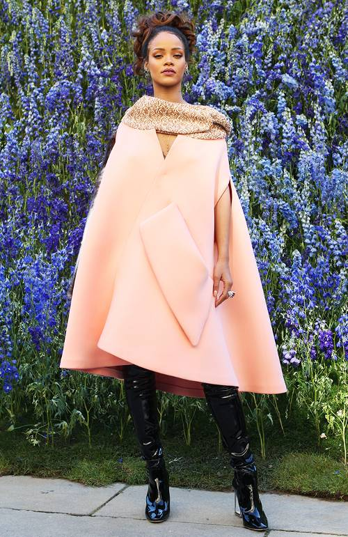 Rihanna in Dior, S/S Paris Fashion Week, 2015