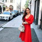 hanushka toni gucci marmont shoe red staud dress etoupe hermes kelly bag