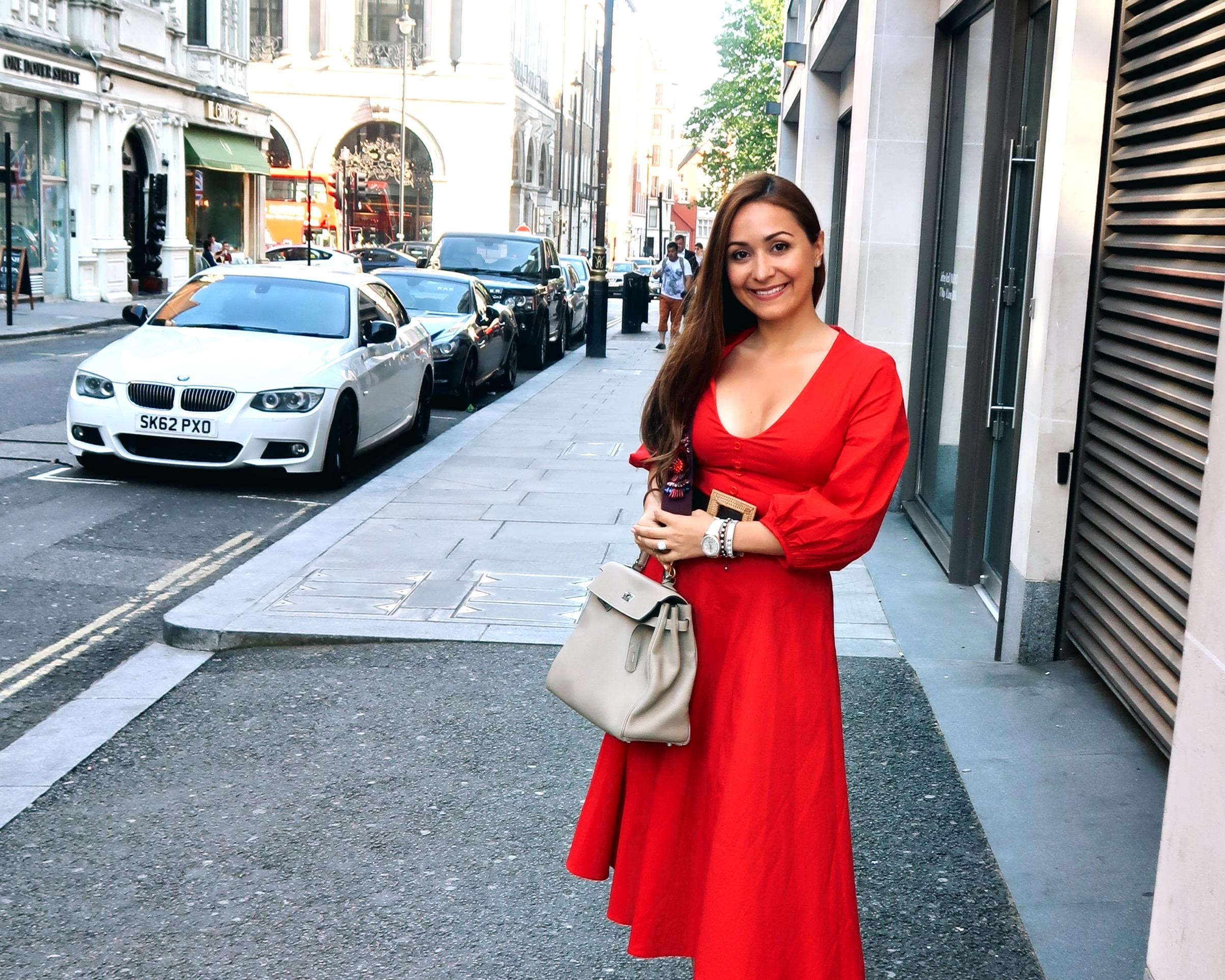 hanushka toni gucci marmont shoe red staud dress etoupe hermes kelly bag