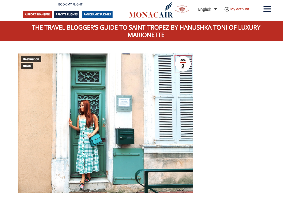 hanushka monaco blogger influencer monacair